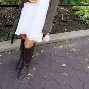 Shoes - over the knee boots with back zipper feature